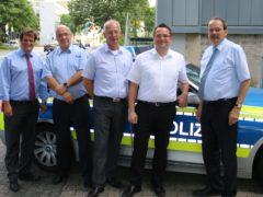 Marco Voge zu Besuch beim leitenden Polizeidirektor Michael Kuchenbecker
