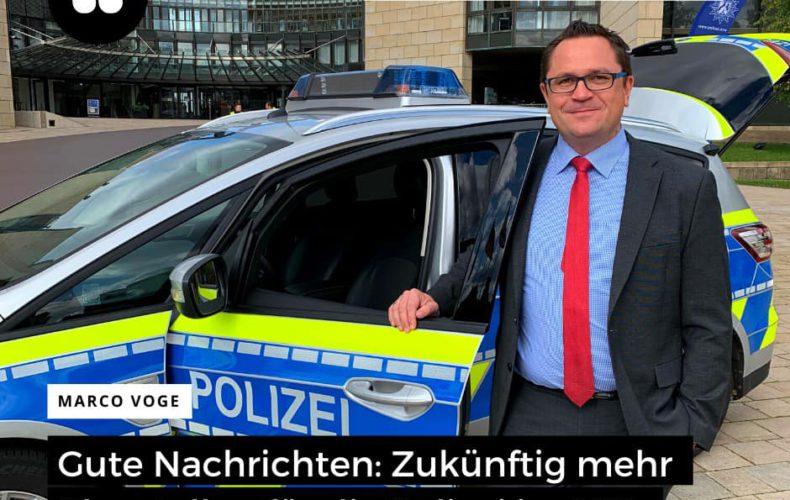 Mehr Polizeipersonal im Märkischen Kreis